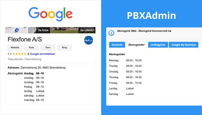 Åbningstider på Google kan styre hvornår jeres telefoner er åbne