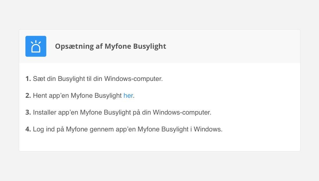 Opsæt din Busylight nemt på Flexfones onlineportal