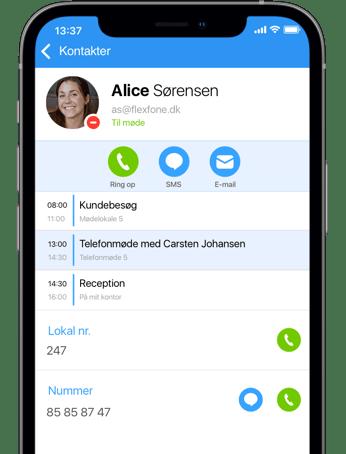Se en kollegas Exchange kalender i Myfone app'en og på Myfone.dk hvis de har givet tilladelse til det.