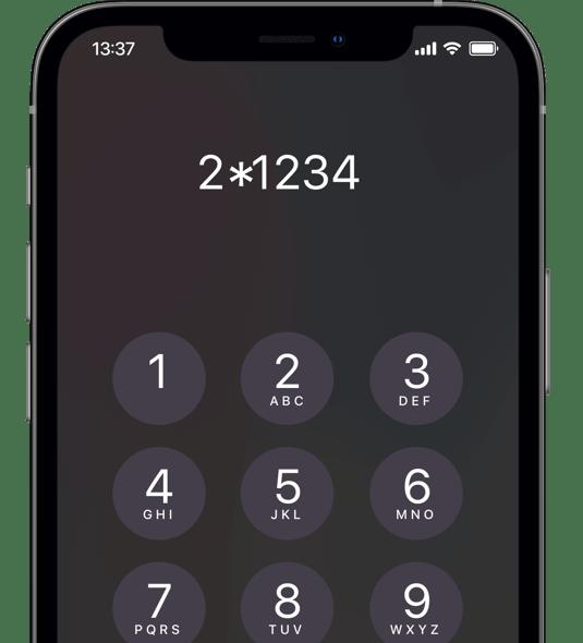 Du kan altid indtaste en af Flexfones stjernekoder ved et igangværende opkald.