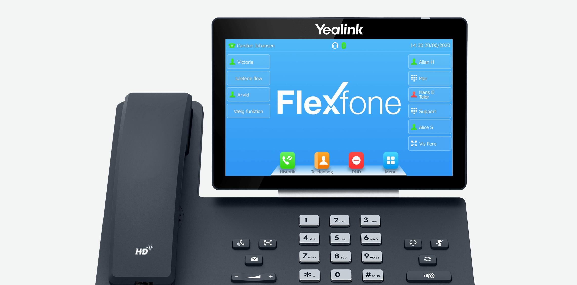 Med en bordtelefon fra Flexfone kan du via dine BLF taster slå Forstyr ikke til og fra.