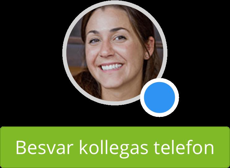 Med indtrækningsgrupper kan du nemt besvare en kollegas telefon.