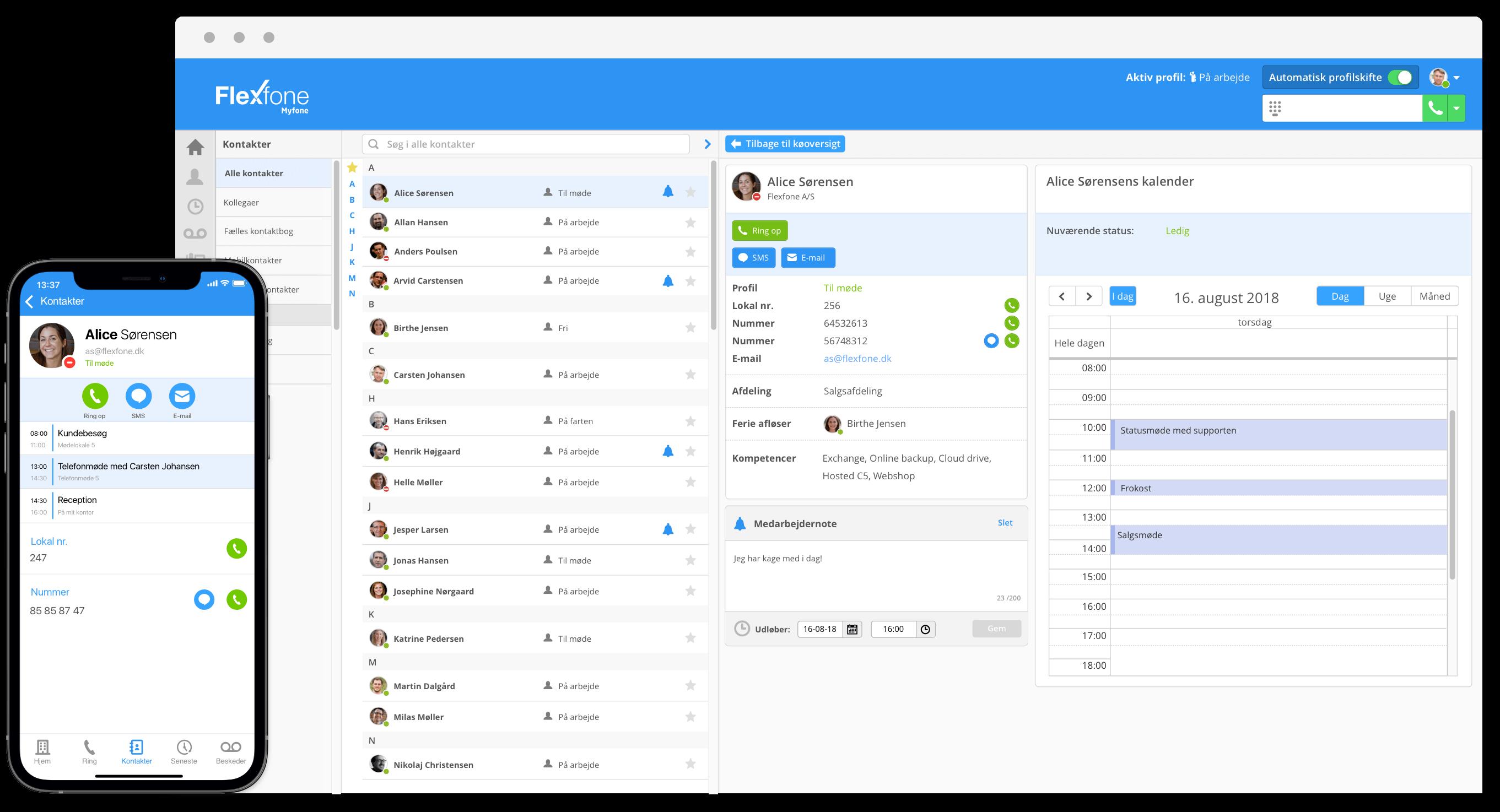 Myfone er et online omstillingsbord